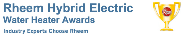 Rheem Hybrid Water Heater Awards