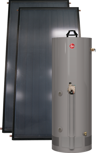 Rheem Solpak With Gas Assist Heat Exchange Tank Series